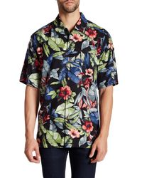 Tommy Bahama | Gray Bloomerang Silk Short Sleeve Original Fit Shirt for Men | Lyst