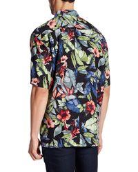 Tommy Bahama - Gray Bloomerang Silk Short Sleeve Original Fit Shirt for Men - Lyst