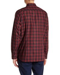 Ted Baker - Red Fulstop Long Sleeve Printed Trim Fit Shirt for Men - Lyst
