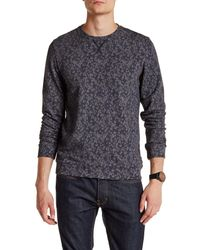 Ted Baker | Gray Furlow Printed Crewneck Sweater for Men | Lyst
