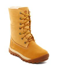 Timberland Multicolor Faux Shearling Lined Woodhaven Roll-down Boot