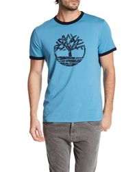 Timberland | Blue Short Sleeve Tree Tee for Men | Lyst
