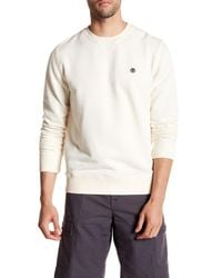 Timberland - White Long Sleeve Crew Neck Pullover for Men - Lyst