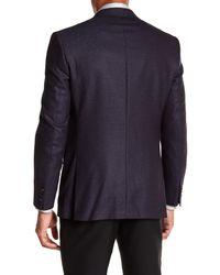 Ted Baker - Blue Jones Burgundy Pin Dot Trim Fit Wool Sport Coat for Men - Lyst