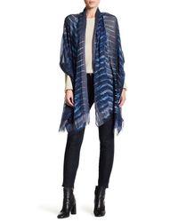 Theodora & Callum | Blue Birds Of A Feather Wrap | Lyst