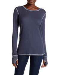 Allen Allen | Blue Thermal Knit Long Sleeve Tee | Lyst