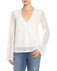 4si3nna | White Lace Bell Sleeve Shirt | Lyst