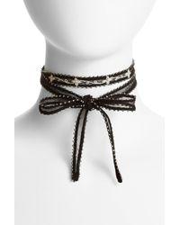 Chan Luu | Black Chiffon Tie Necklace | Lyst