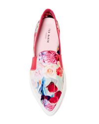 Ted Baker - Multicolor Thfia Floral Pointy Toe Slip-on Sneaker - Lyst