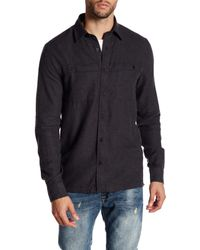 Threads For Thought | Black Long Sleeve Regular Fit Double Pocket Flannel Shirt for Men | Lyst