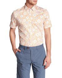 Ted Baker - Pink Floral Trim Fit Shirt for Men - Lyst
