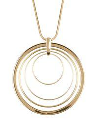 Trina Turk | Metallic Long Pendant Necklace | Lyst