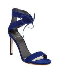 Stuart Weitzman | Blue Tynela Ankle Strap Sandal | Lyst