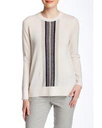 Vince - White Regimental Stripe Cashmere Sweater - Lyst