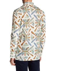 Versace - White Dragonfly Long Sleeve Trim Fit Shirt for Men - Lyst