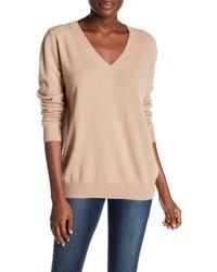 VINCE | Natural Cashmere V-neck Sweater | Lyst