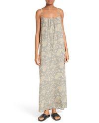 Vince - Natural Vintage Floral Silk Slipdress - Lyst