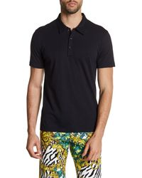 Versace - Blue Collared Short Sleeve Shirt for Men - Lyst
