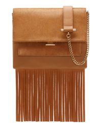 Vince Camuto | Brown Amele Genuine Calf Hair Crossbody | Lyst