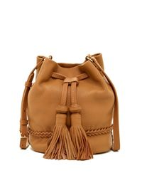 Vince Camuto Brown Leigh Leather Crossbody