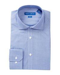 Vince Camuto - Blue Modern Fit Striped Dress Shirt for Men - Lyst
