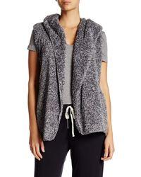 Pj Salvage | Gray Cozy Hooded Vest | Lyst