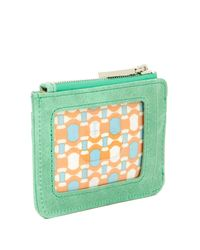 Hobo - Green Kai Vintage Leather Card Case - Lyst