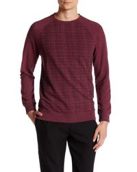 Vince Camuto | Red Raglan Crewneck Sweater for Men | Lyst