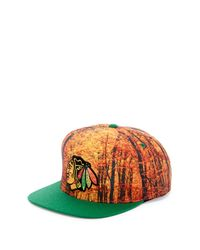 Mitchell & Ness - Orange Hawks Forest Camo Snapback for Men - Lyst