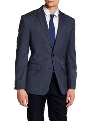 Vince Camuto | Blue Woven Two Button Notch Lapel Modern Fit Wool Jacket for Men | Lyst