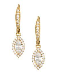 Nadri - Metallic 18k Gold Clad Marquise Cz Dangle Earrings - Lyst