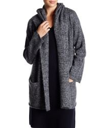 Vince | Gray Hooded Knit Cardigan | Lyst