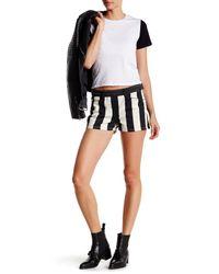 Genetic Denim - Black Cara Striped Short - Lyst