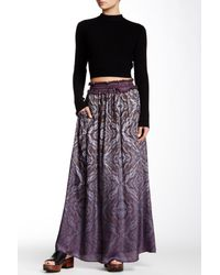 Gypsy 05 - Multicolor Printed Ombre Maxi Skirt - Lyst