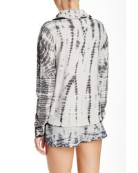 Gypsy 05 - Gray Funnel Neck Lounge Pullover - Lyst