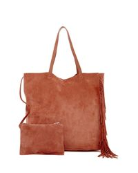 AllSaints | Brown Club New Lea Fringe Leather Tote | Lyst
