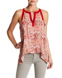 BCBGMAXAZRIA | Red Clementine Printed Blouse | Lyst