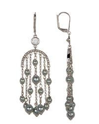Kate Spade - Metallic Beaded Chandelier Earrings - Lyst