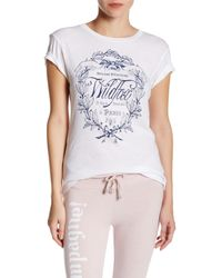 Wildfox | White Paris Country Crest Tee | Lyst