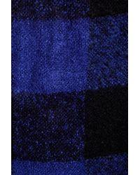 Joe Fresh - Blue Mohair Plaid Scarf - Lyst