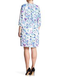 NYDJ - Blue Alexa Pleat Back Dress (plus Size) - Lyst