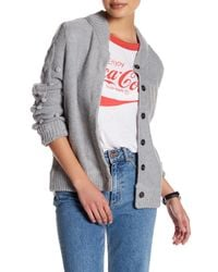 Wildfox | Gray Long Sleeve Letterman Sweater | Lyst