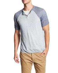 Autumn Cashmere | Multicolor Short Sleeve Raglan Henley Tee for Men | Lyst