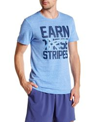 Asics Blue Earn These Stripes Tee for men
