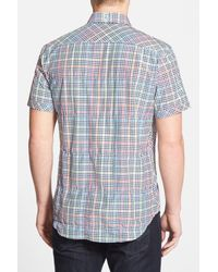 Robert Graham - Blue Tailored Fit Short Sleeve Shirt for Men - Lyst