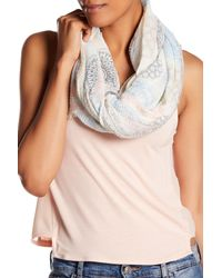 Roffe Accessories Multicolor Pastel Medallion Print Scarf