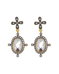 Freida Rothman - Metallic 14k Gold Plated Sterling Silver Core Collection Mirror Drop Earrings - Lyst