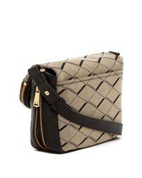 Fossil - Gray Preston Fabric Small Flap Crossbody - Lyst