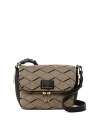 Fossil | Gray Preston Fabric Small Flap Crossbody | Lyst