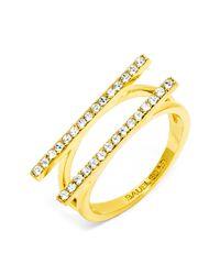 BaubleBar - Metallic Ice Freeway Ring - Size 6 - Lyst